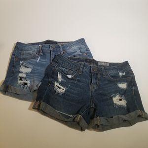 🕶️ X2 pairs of shorts Aeropostale size 0